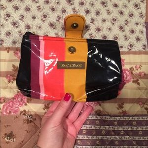 NWOT Isaac Mizrahi Medium Striped Cosmetic Bag